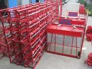 Building Material Cage Hoist 1200kg Red Painted 3.6 x 1.5 x 2.5m