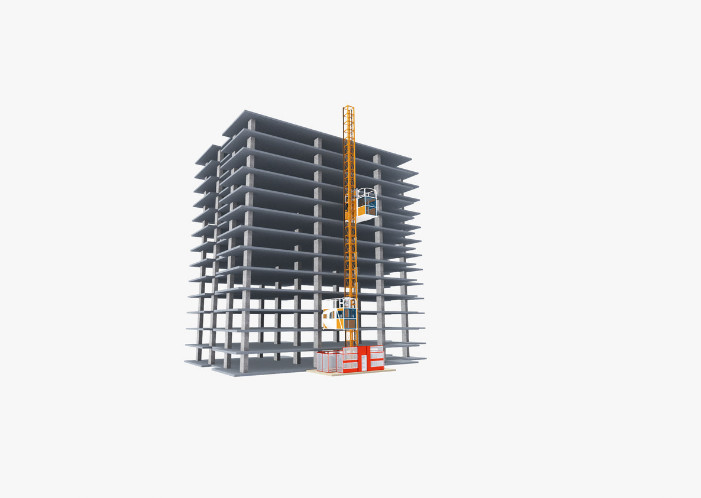 High Safety Construction Hoist Elevator Robust Structure Large Carry Capacity