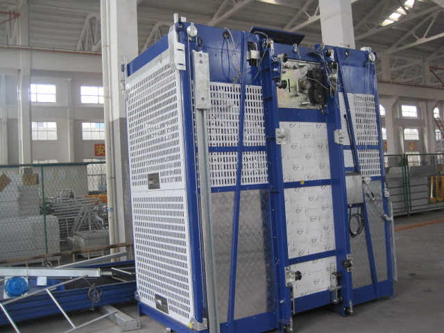 380V 50HZ Single Cage Passenger Elevator 36m/min For Construction