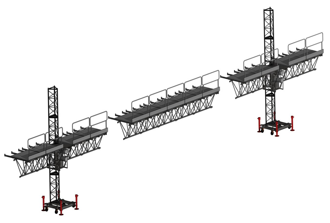 Construction 12m Aerial Twin Lifting Industrial Elevators Cradle
