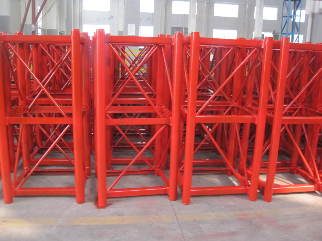 Construction Tower Crane Mast Section 2 x 2 x 3 m Hot Dipping Zinc